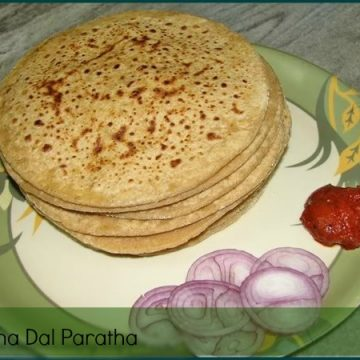 Chana dal paratha is a healthy and yummy stuff Indian flatbread where the outer layer is made of fiber-rich whole wheat flour and filling is protein-rich lentil. Putting together this chana dal paratha is good enough to start your day and keeps you going. This stuffed Indian flatbread served for lunch or dinner and can be relished with curd or pickle.