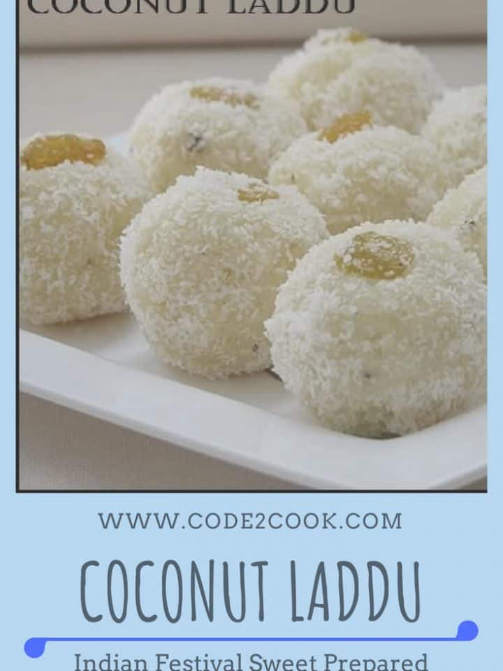 Coconut laddu is the easiest laddu recipe with just 2 ingredients. Dry coconut powder or desiccated coconut with condensed milk is just enough to make these laddus. For flavor add cardamom powder and for nutty texture add desired dry fruits.