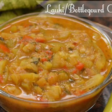 Lauki ki sabji is easy and simple curry to make for lunch or dinner. Lauki is an integral part of the Indian kitchen due to its health benefits. Lauki is known as various names like doodhi, ghiya, sorakaya, sorakkai in the different language, and bottle gourd or opo squash in English. Lauki ki sabji is a vegan,low-calorie and gluten-free curry recipe.