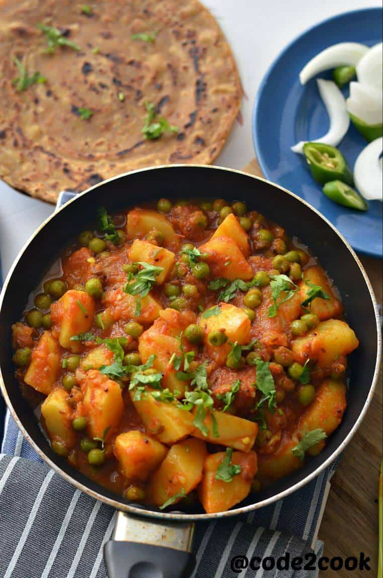 Vegan Aloo Matar Recipe Potato Peas Curry Code2cook