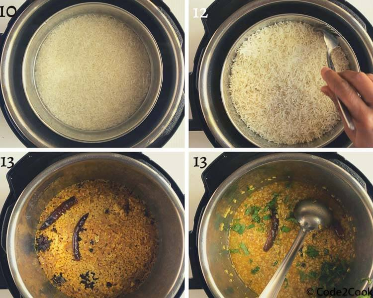 instant pot white urad dal process shots
