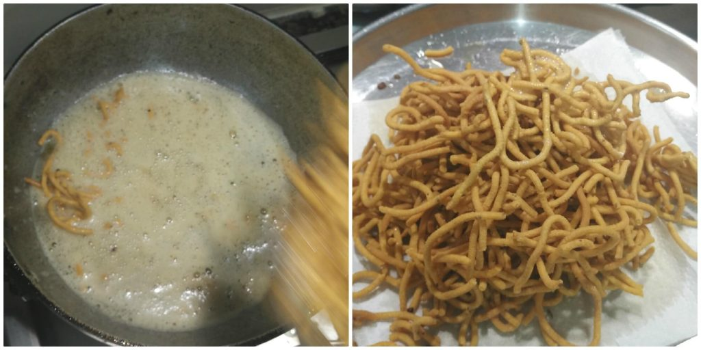 Besan sev is a very famous snack prepared in every household kitchen in India. It is a blend of besan or gram flour and a few spices, which is deep-fried. They are crisp and savory in taste and a great tea time snack. This snack is made during Holi or Diwali, though you can cook throughout the year