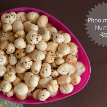 Phool makhana is a very healthy snack, it is roasted in ghee with salt.It is consumed as a healthy snack but mostly eaten during fasting days especiallyin Navratri.