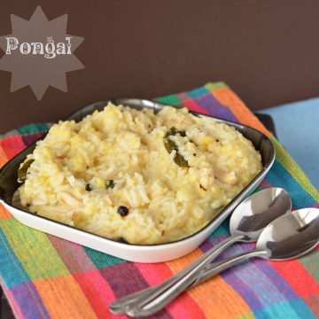 In Sankranti usually, a combination of til/sesame and jaggery is consumed with kite flying. In Lohri, it all related to bhangra/giddha, bonfire and revri/popcorn. In Pongal, we make a recipe with the same name as Pongal. Today I am sharing this savory recipe with you all.