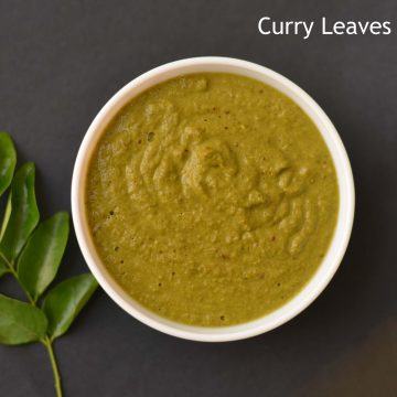 This curry leaves chutney I found in here and immediately clicked the idea of preparing it with the remaining left out curry leaves. A few changes in ingredients are done just to suit my taste. The main nutrients found in curry leaves are carbohydrates, energy, fiber, calcium, phosphorous, iron, magnesium, copper, and minerals.