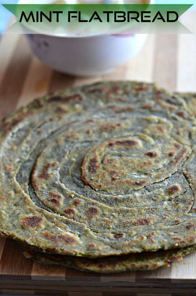 pudina laccha paratha clicked from side.