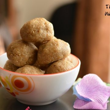 Til aurmava laddu is very common sweet in north India during winters. It is prepared specially on Makar Sankranti. Having nutritious properties sesame laddu are great in cold weather. With the goodness of sesame seeds and richness of cottage cheese /mava, til aur mava laddu not only soothe your sweet craving but also having health benefits.