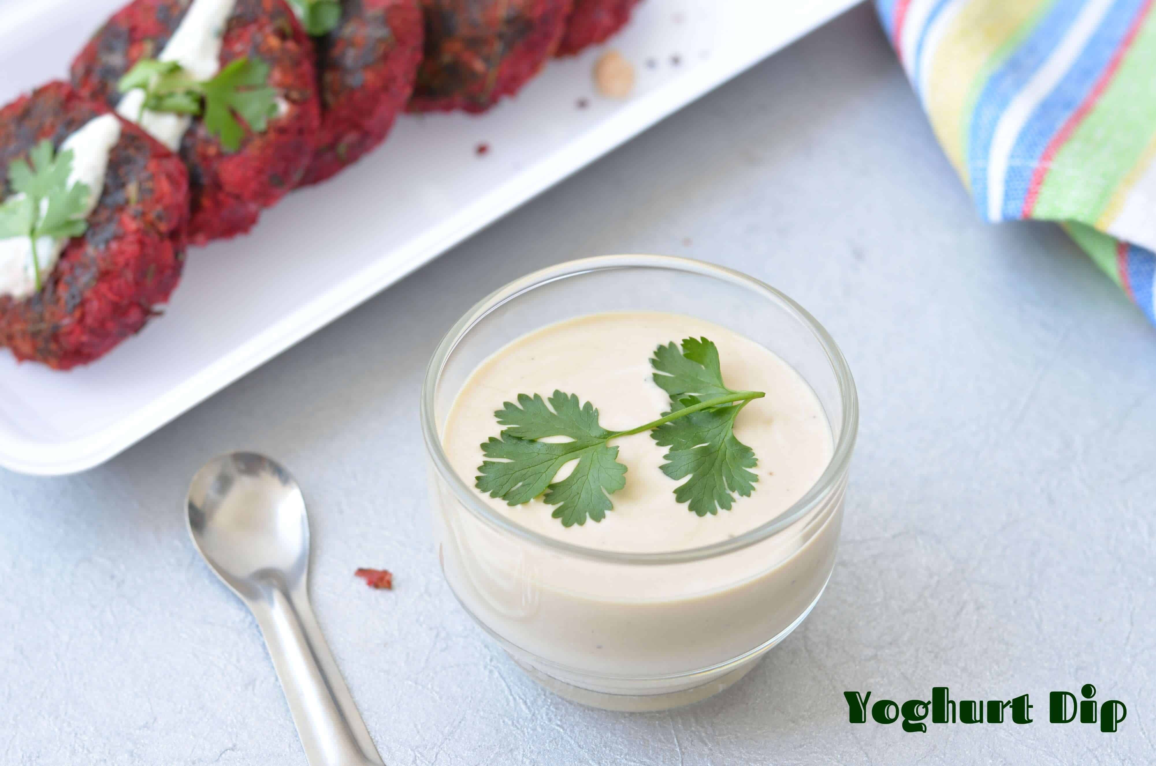 Curd dip or yoghurt dip is very quick and easy dip to prepare, just mixing curd with soya sauce and garlic, a delicious dip is ready in no time.
