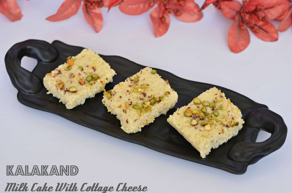 Kalakand is an Indian sweet made out of sweetened milk and paneer. I am sharing an easy and quick version of making kalakand.
