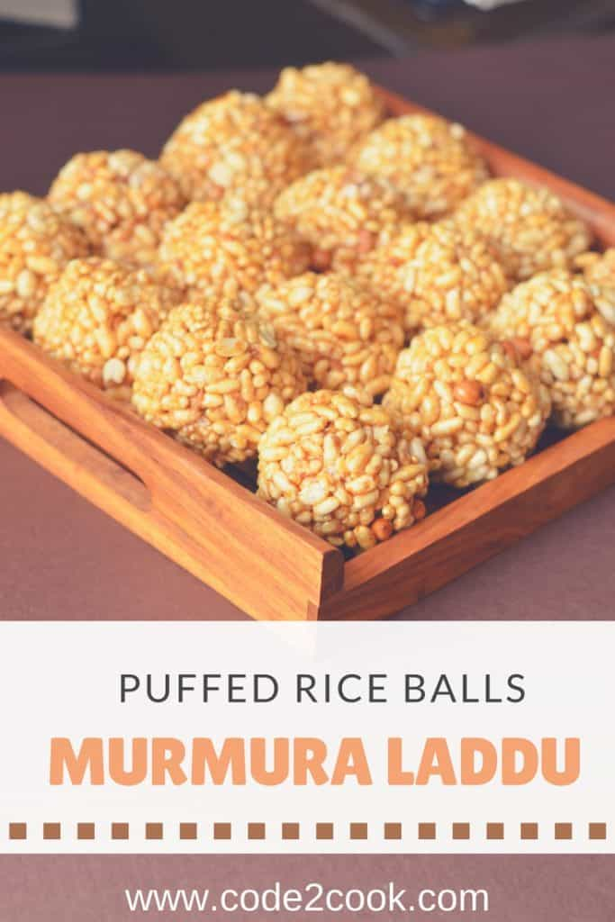 Murmura laddu are crispy laddus made of murmura or puffed rice and jaggery syrup. These quick and easy to make laddus are kidsfriendly and can be prepared with in a short duration of time. Mumura laddu also known as moodi laddu, usually prepared on Makarsankranti but since very easy to make one can make any time throughout the year.
