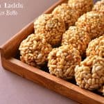 Murmura laddu are crispy laddus made of murmura or puffed rice and jaggery syrup. These quick and easy to make laddus are kidsfriendly and can be prepared with in a short duration of time. Mumura laddu usually prepared on Makarsankranti but since very easy to make one can make any time throughout the year.