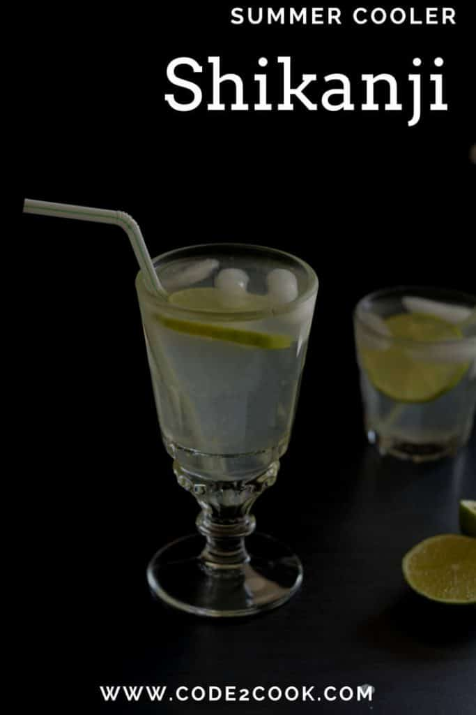 Shikanji or Shikanjvi is a traditional summer drink in India. It is also knowns as nimbupani with just basic ingredients like lemon, sugar, and black salt. This elevates energy level on hot days.