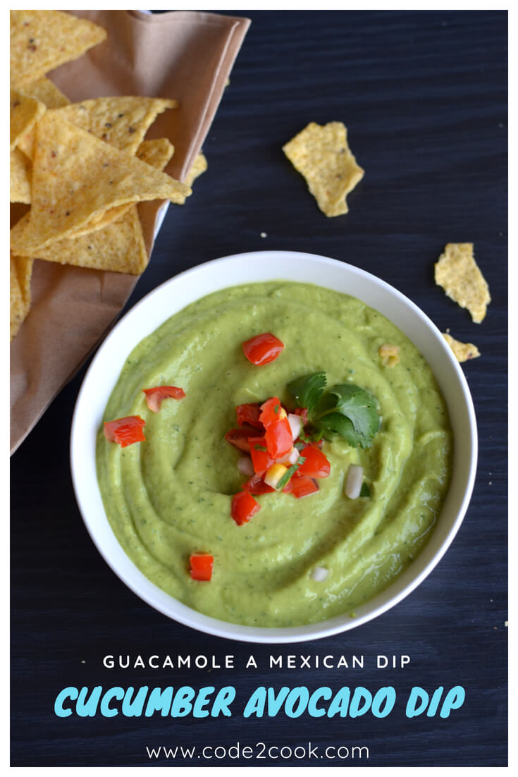 Guacamole is an essential part of Mexican cuisine.If you go to any Mexicanrestaurant the first thingthey will serve is a big basket of nacho chips with salsa and guacamole. It is preferablymade with ripe avocados mashed with onion, tomatoes, lemon juice, garlic, green coriander, and seasoning.