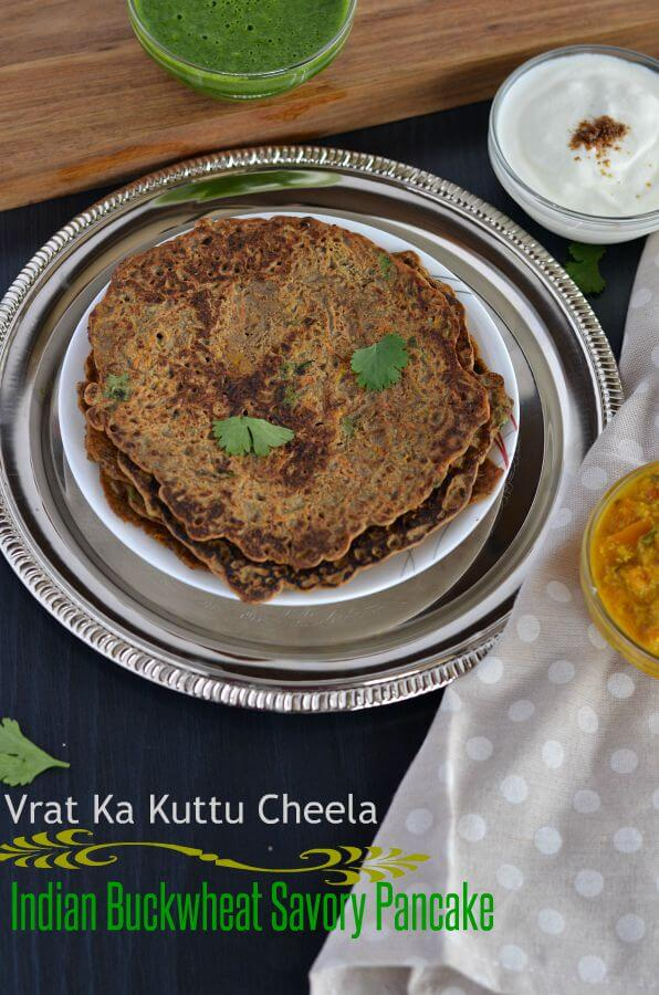 Kuttu ka cheela is a traditional Indian fasting recipe which is not only quick and easy to make but also a vegan and gluten-free cheela recipe. Kuttu, also known as buckwheat flour, is commonly used by the majority of people in India during fasting days, especially in Navratri.