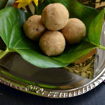Peanut ladoo is another easy to make and simple ladoo recipe with just two ingredients. It is made with grated jaggery and dry roasted peanut. Oil in the peanut and moisture in the jaggery is good enough to bind these easy peanut ladoo. Being refined sugar-freethese peanut ladoo with jaggery are very healthy and nutritious.