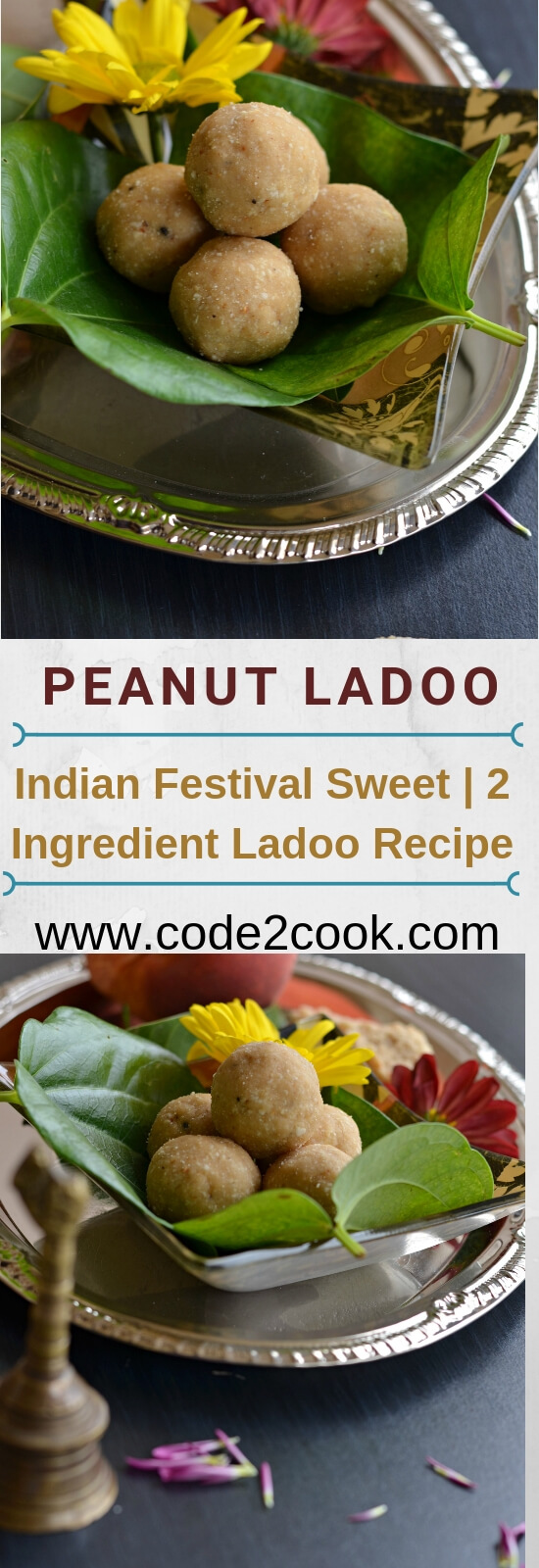 Peanut ladoo is another easy to make and simple ladoo recipe with just two ingredients. It is made with grated jaggery and dry roasted peanut. Oil in the peanut and moisture in the jaggery is good enough to bind these easy peanut ladoo. Being refined sugar-free these peanut ladoo with jaggery are very healthy and nutritious.