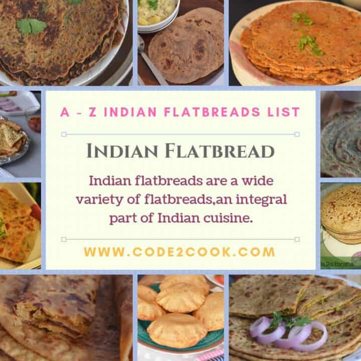 """ndian flatbreads are a variety of flatbreads or called """"Paratha"""" in Hindi. This is an integral part of Indian cuisine irrespective of anything."""