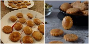 Papchiis a traditional sweet snack from Chhattisgarh made with whole wheat flour and coated with sugar syrup. Papchi makes a great snack to make on festivals and a great snack for kids tiffin box.
