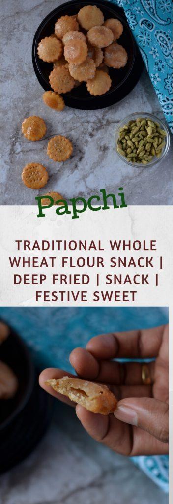 pinterest image of Papchi recipe