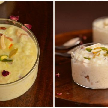 Rice kheer or rice pudding is one of the favorite Indian dessert and commonly made in every household. It is similar to payasam made in South India.