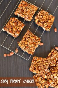 Dry fruit chikki is just another nutritious version of peanut chikki. It is loaded with dry fruits, healthy seeds, and iron-rich jaggery. It is popularly known as chikki in India and commonly eaten during winters.