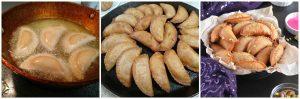 mawa gujiya are deep fried