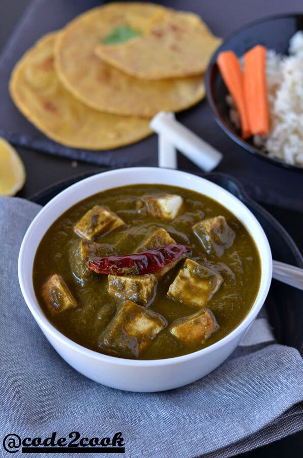 Instant pot palak paneer is a delicious, creamy, flavourful North Indian Cuisine recipe made with paneer (cottage cheese) and spinach in Instant Pot. It is seasoned with ginger, garlic, onion, tomatoes and very easy to make one pot recipe made in instant pot. This gluten-free, low-calorie instant pot palak paneer is just another variation to authentic palak paneer recipe.