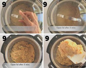 cover the lid and switch off the instant pot.