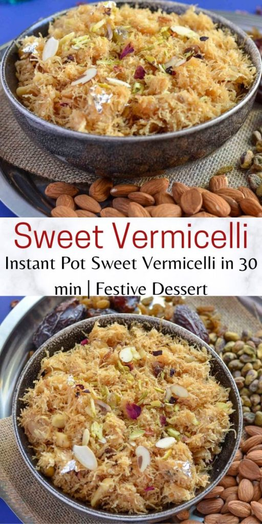 Pinterest image for sweet vermicelli