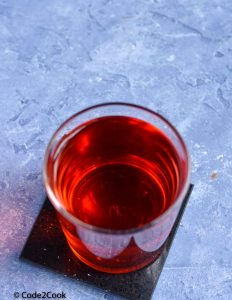 Plain rooh afza drink served in a glass