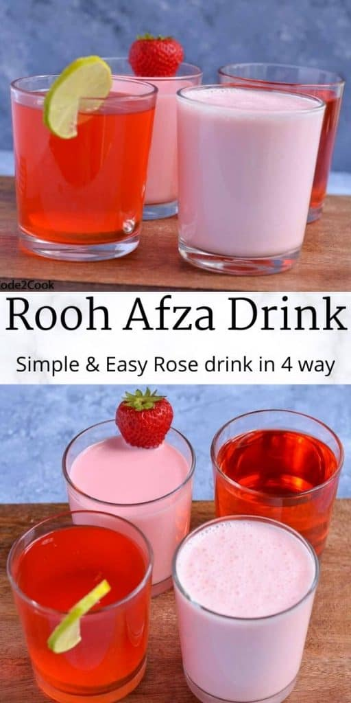 You are already familiar with regular Roohafza Drink, now try this Roohafza Lemonade, Roohafza Milkshake, Roohafza Lassi, summer drinks to cool you down.