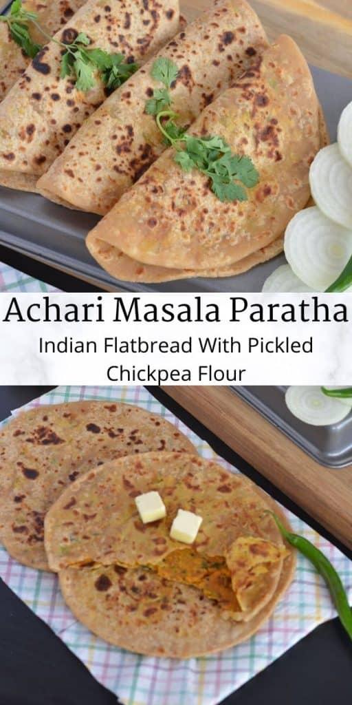 how to make achari masala paratha