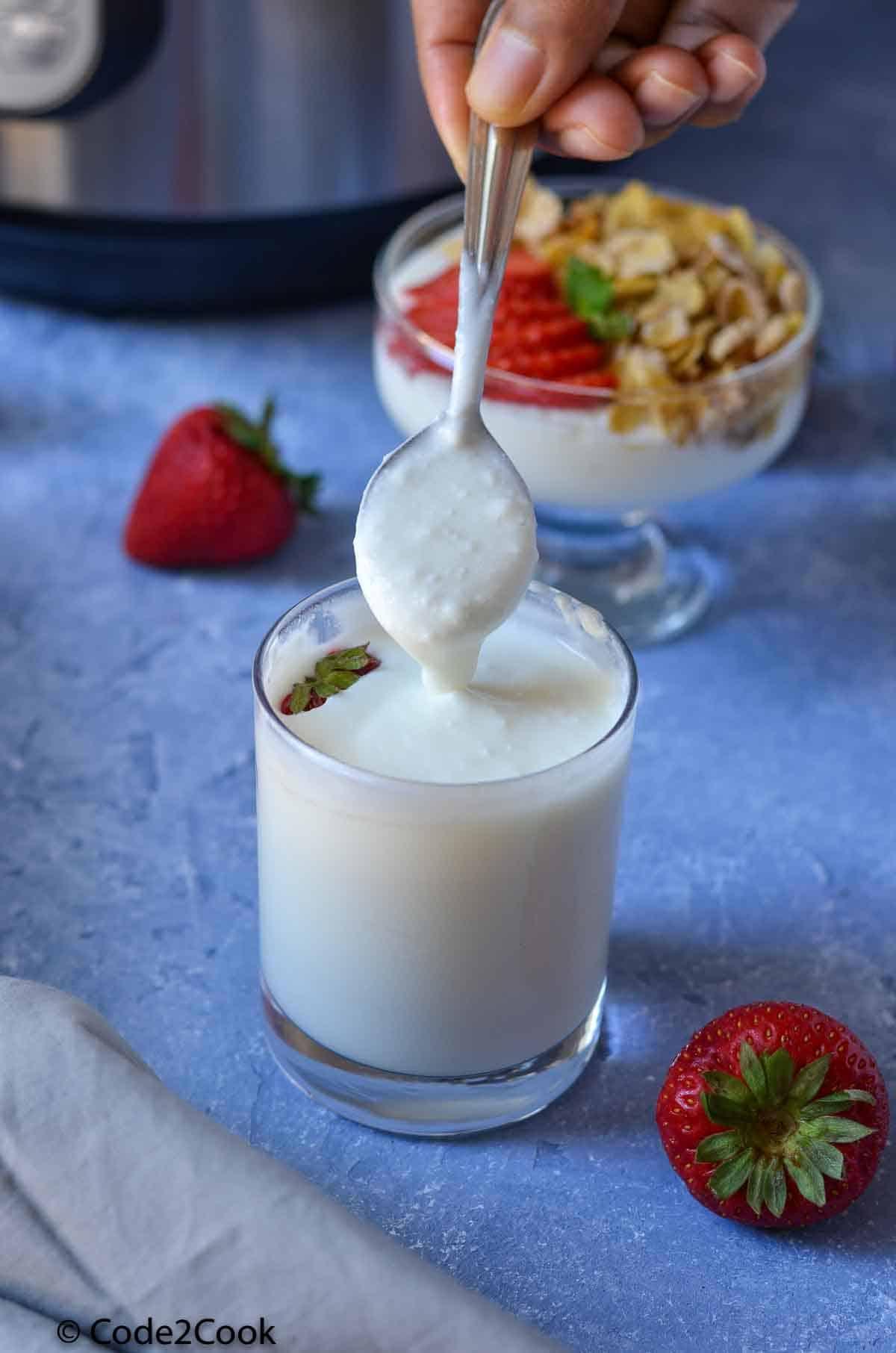 smooth & creamy instant pot yogurt