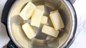 added solid butter in instant pot