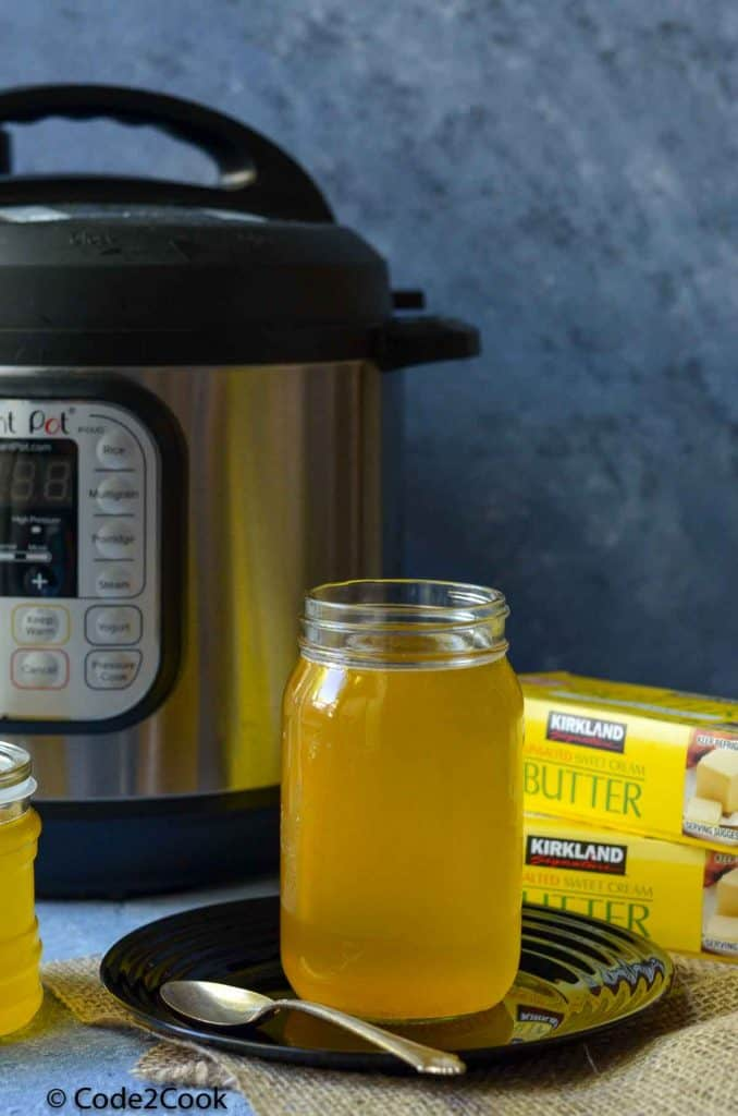 ghee is ready and stored in glass container