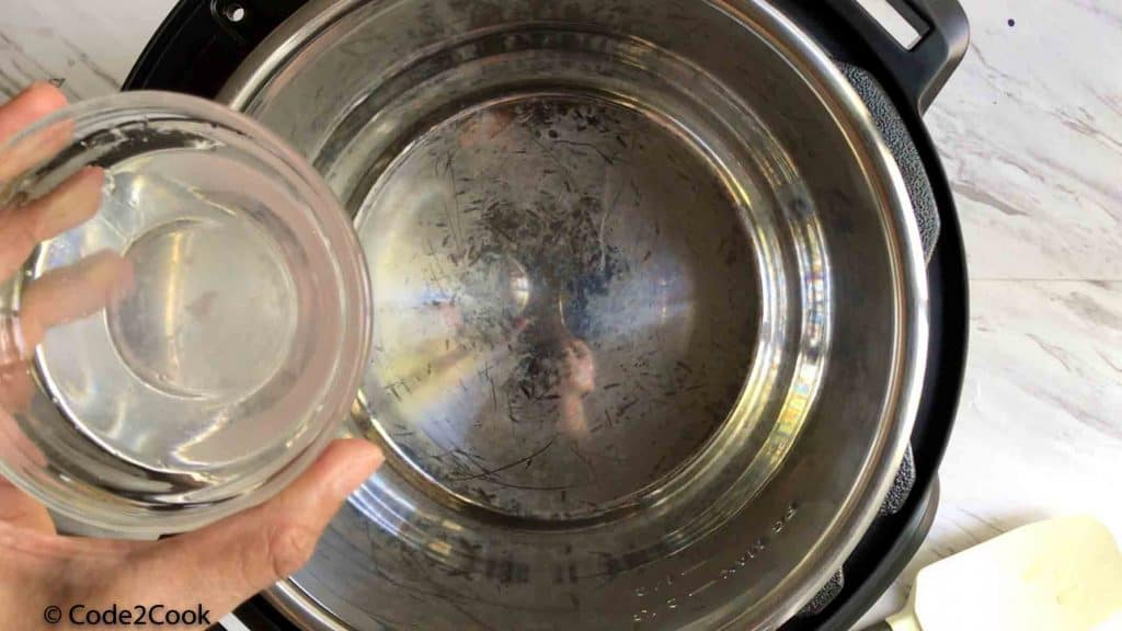 Adding coconut oil in instant pot