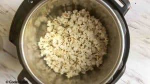 Instant Pot Popcorn- is very easy to make snack at home. Learn how to make popcorn in an instant pot with just two ingredients, in a few minutes.