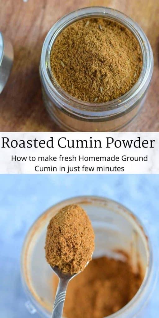 pinterest image for roasted cumin powder