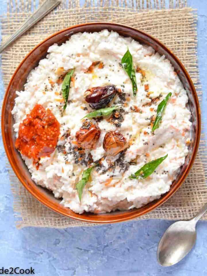 overhead click of yogurt rice