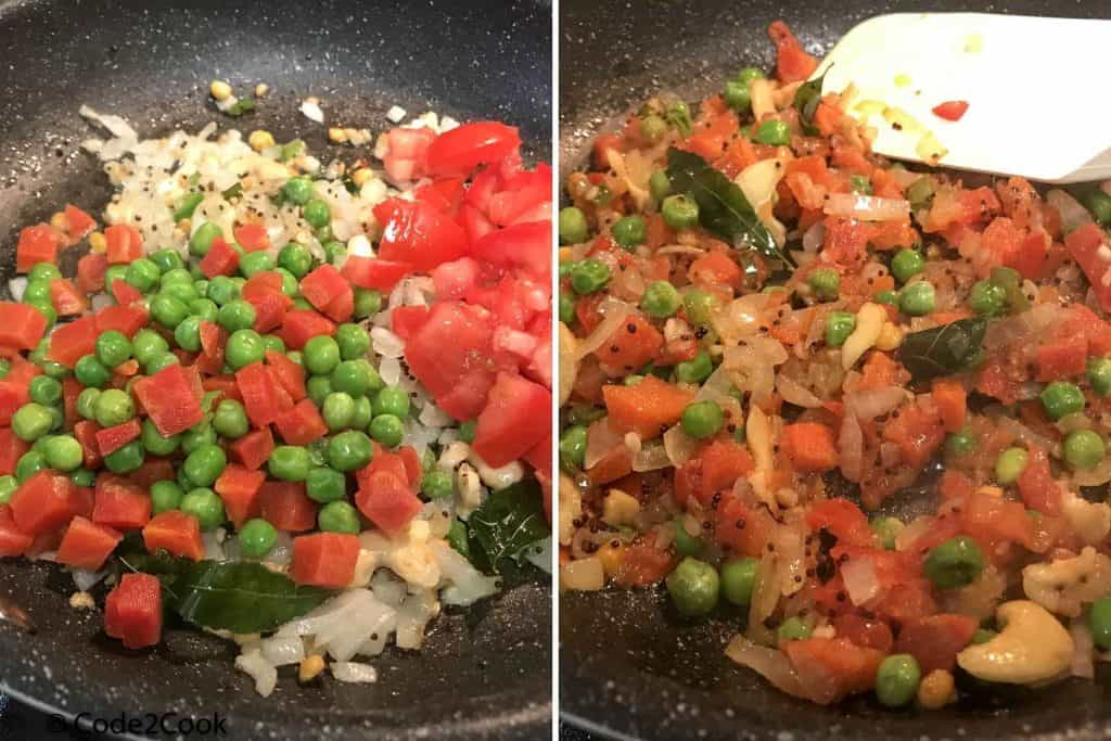 added vegetables & chopped tomatoes